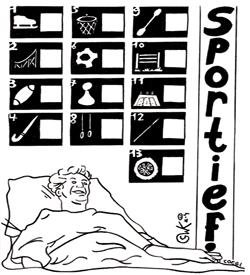 Sporten puzzel Kanhetvoorgeenmeter