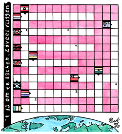 Landen en vlaggen puzzel