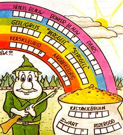 Kleurloos kleuren puzzel