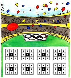 Olympische spelen puzzel