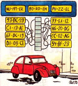 Nummerborden puzzel