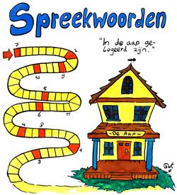 Aap gelogeerd spreekwoorden puzzel