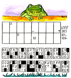 Kikkersprong puzzel