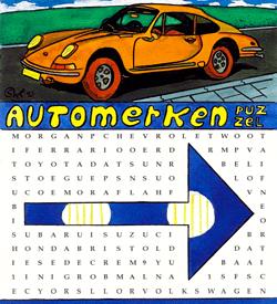 Porsche 911 woordzoeker puzzel