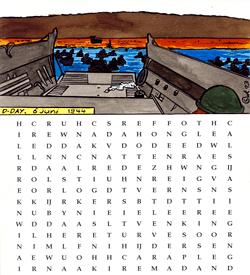 D-day puzzel woordzoeker