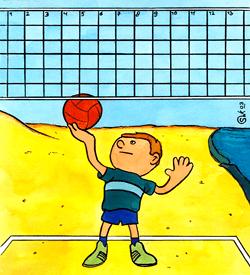 Volleybal sporten puzzel