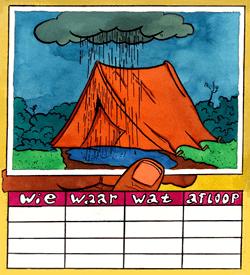 Vakantie puzzel logisch raadsel