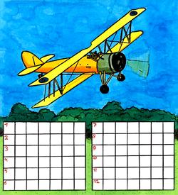 Vliegtuig puzzel