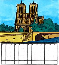 Notre Dame Parijs puzzel
