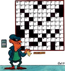 Bertus Breekijzer puzzel kruiswoord