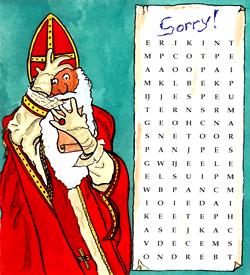Sinterklaas woordzoeker puzzel