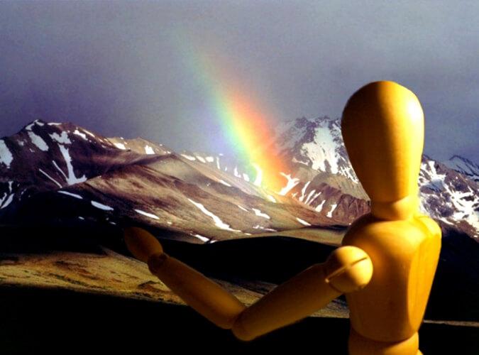 Kijk, de regenboog