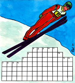 Schans springen puzzel