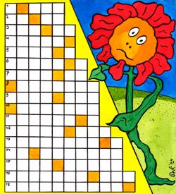 Levende bloem puzzel