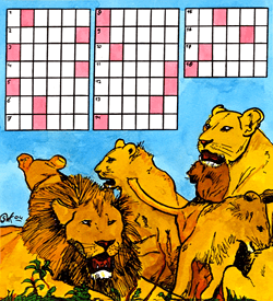Leeuwenfamilie puzzel