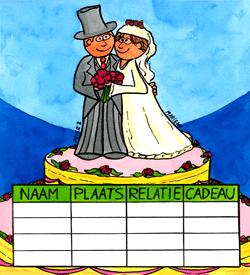 Bruiloftstaart logisch raadsel puzzel