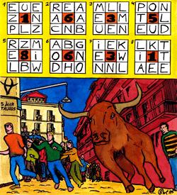 Stierenvechten Spanje puzzel