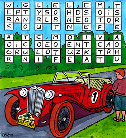 Oldtimer paardensprong puzzel