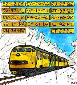 Verkeershinder nummerbord puzzel