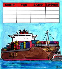 Containerschip logisch raadsel puzzel