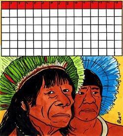 Inheems Indianen puzzel