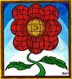 Japanse bloem puzzel
