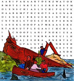 Schipbreuk woordzoeker puzzel