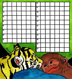 Leeuw en aap puzzel