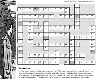 Groentesoorten cijfercode kaskraker puzzel