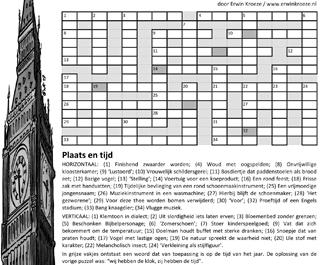 Puzzel Big Ben kruiswoordraadsel