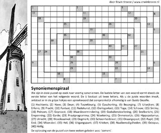 Synoniemenspiraal puzzel