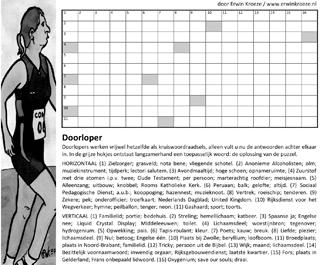 Doorloper puzzel kruiswoordraadsel