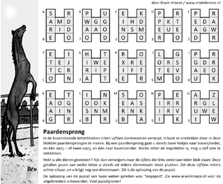 Paardensprong puzzel