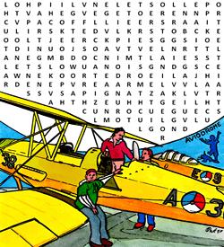Aviodrome woordzoeker puzzel