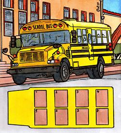 Amerikaanse schoolbus puzzel