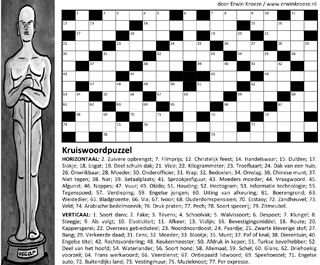 Kruiswoordpuzzel oscar