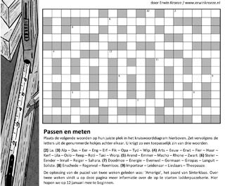 Passen meten kruiswoord puzzel