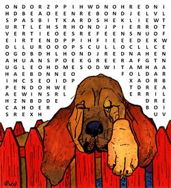 Bloedhond woordzoeker puzzel