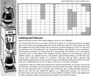 Ladder februari puzzel