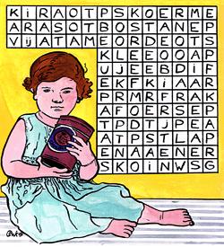 Reclame meisje puzzel