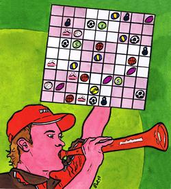 Bal sudoku Oranjefan puzzel