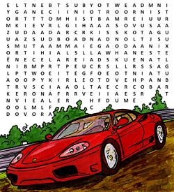 Automerken woordzoeker puzzel
