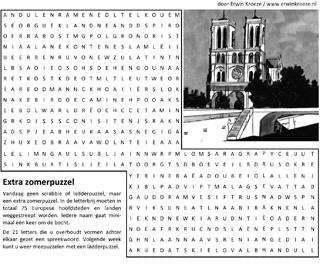 Hoofdsteden woordzoeker puzzel