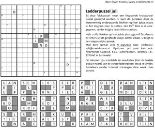 Ladder juli blokpuzzel