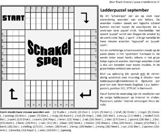 Ladder september schakelspel puzzel