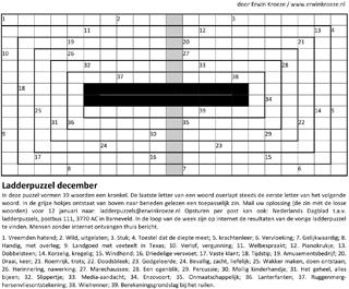 Ladder december kronkel puzzel