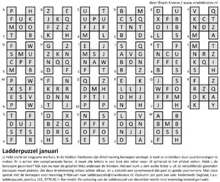 Ladder januari beroepen puzzel