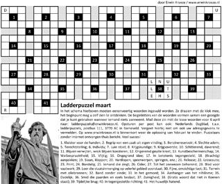 Ladder maart puzzel