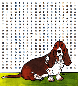 Hondensoorten woordzoeker puzzel