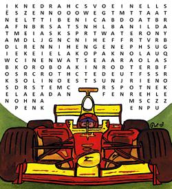 Formule een racesport puzzel